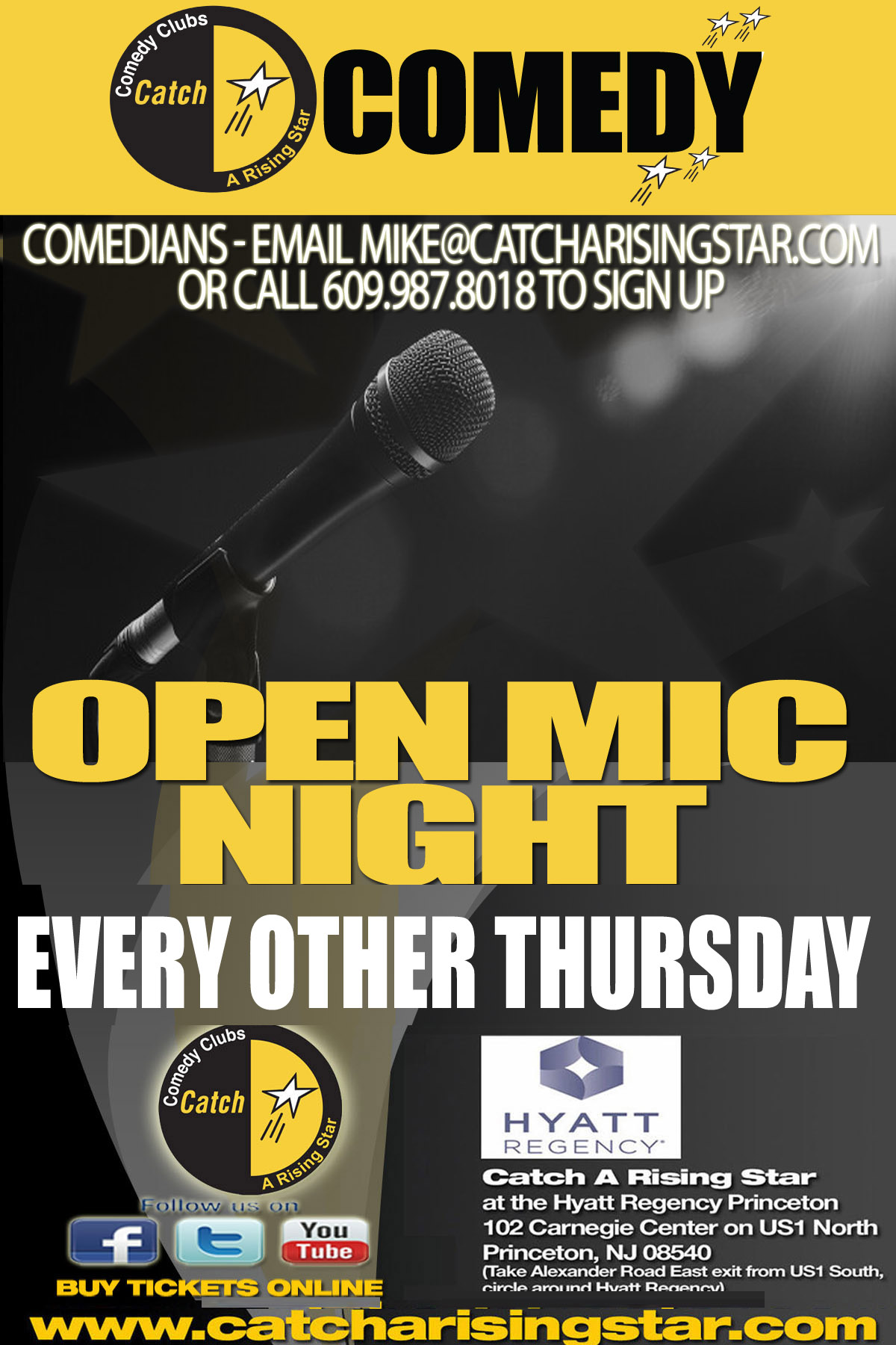 Catch A Rising Star Open Mic Night